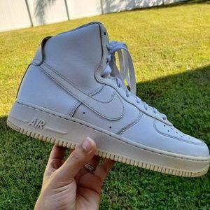 Nike AF1 2013 Solid White Hi Tops 10 (315121-115)